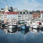 Boats at the harbor in Torshavn - Faroe Islands