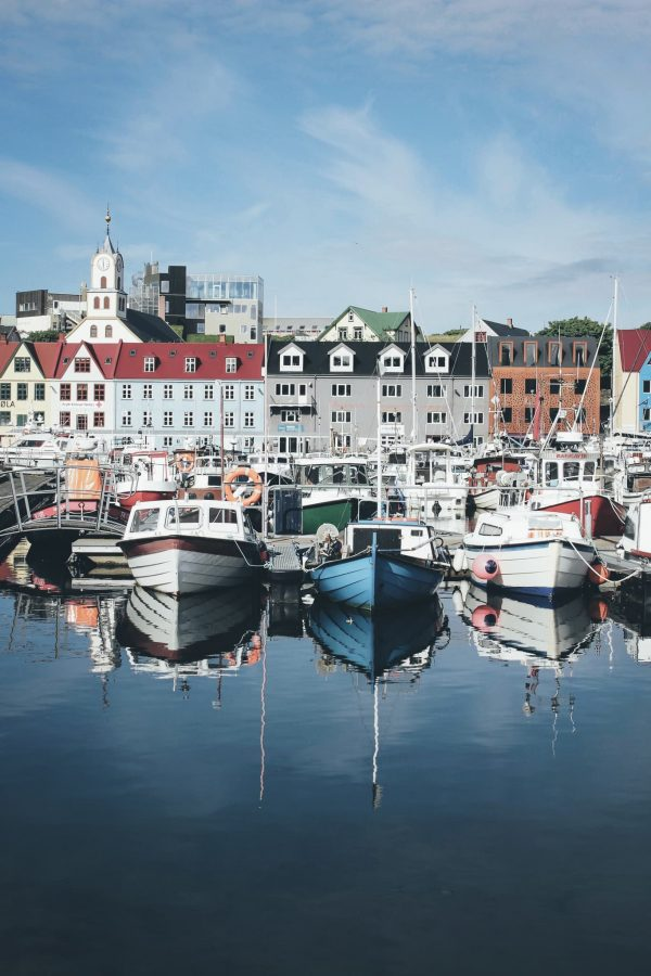 Boats at the harbor in Torshavn